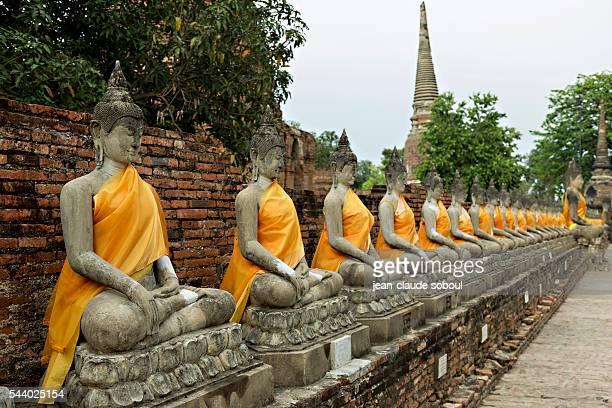Buddha images in Ayutthaya (Thailand)