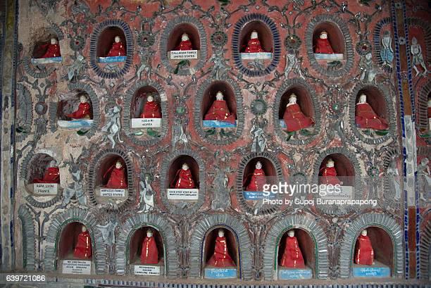 Buddha images in Shwe Yaunghwe Kyaung Pagoda in Nyaungshwe, Myanmar