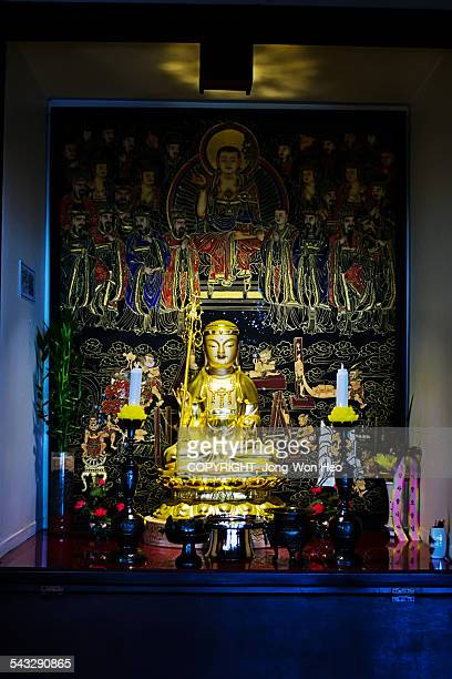 Buddha in the Buddhism temple