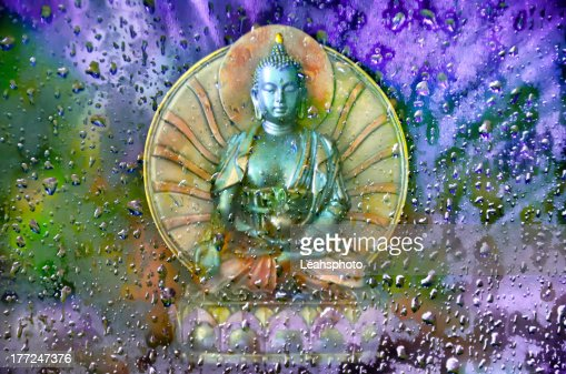 Buddha in the Mist : Stock Photo
