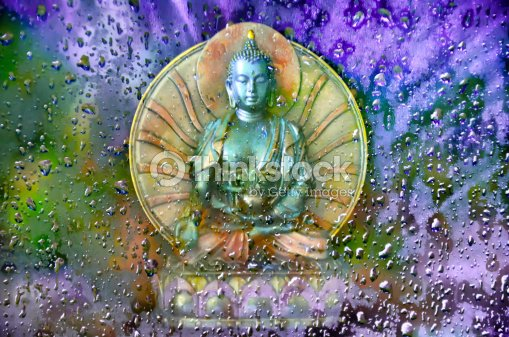 Buddha in the Mist : Stock Photo