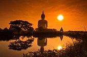 """""""Big buddha statue at Wat muang, Thailand"""""""