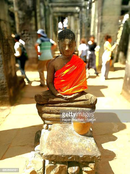 Buddha Sculpture At Historic Temple