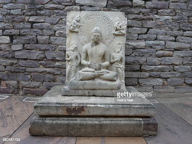 Buddha statue at Sanchi Stupa