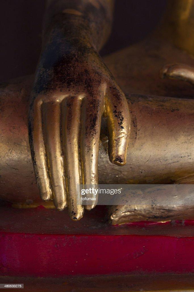 Buddha statue hands : Stock Photo
