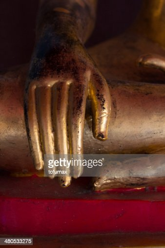 Buddha statue hands : Stock Photo
