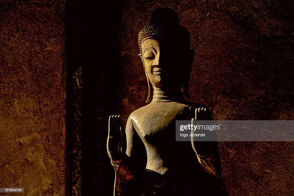 Buddha statue in Laos : Stock Photo