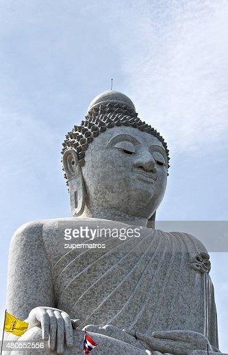 Estátua de Buda em Phuket : Foto de stock