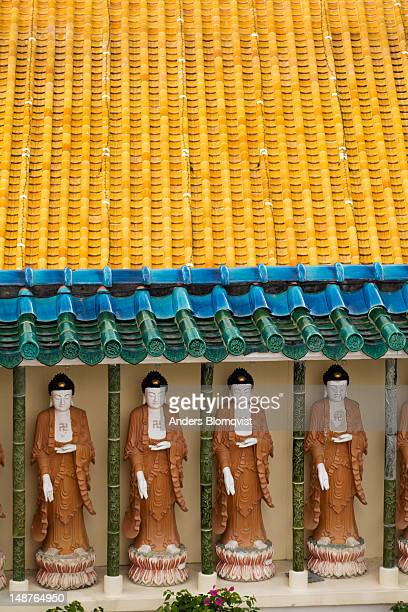Buddha statues and yellow tile roof at Kek Lok Si Temple near Georgetown.