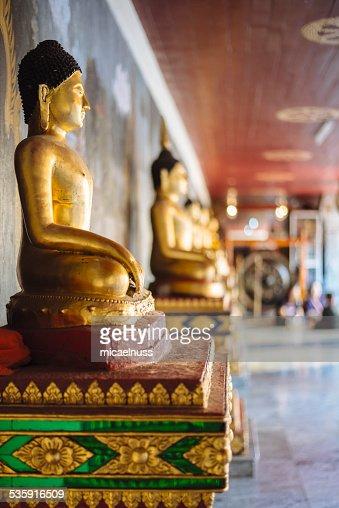 Buddha statues in Doi Suthep temple. : Stock Photo