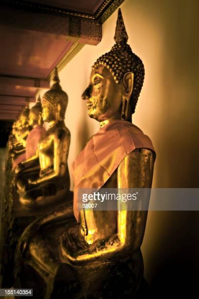 buddha statues, wat arun, bangkok, thailand