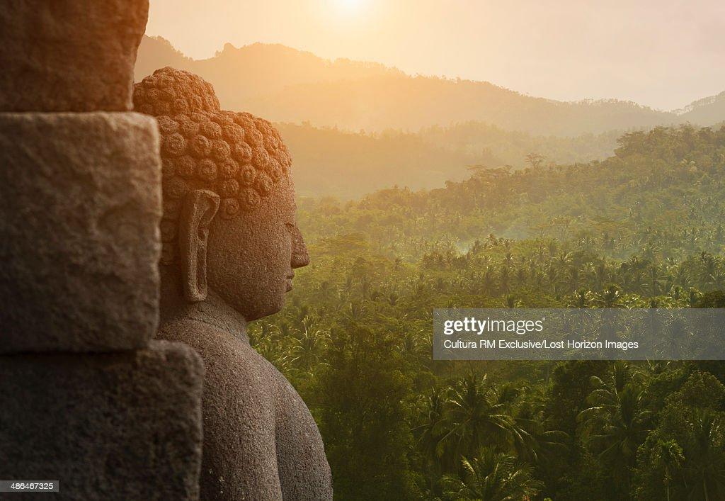 Buddha, The Buddhist Temple of Borobudur, Java, Indonesia : Stock Photo