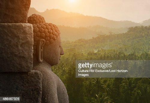 Buddha, The Buddhist Temple of Borobudur, Java, Indonesia