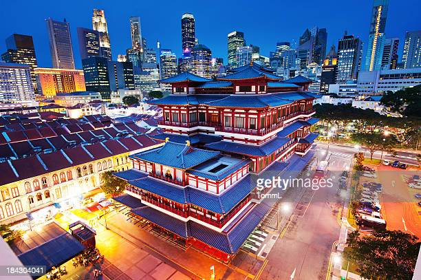 Relique Temple bouddhiste de dents dans le quartier de Chinatown, Singapour