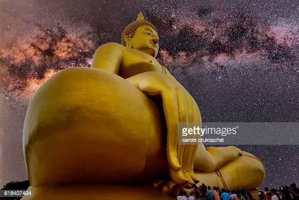 Buddha, Wat Muang Angthong popular Buddhist shrine in Thailand.