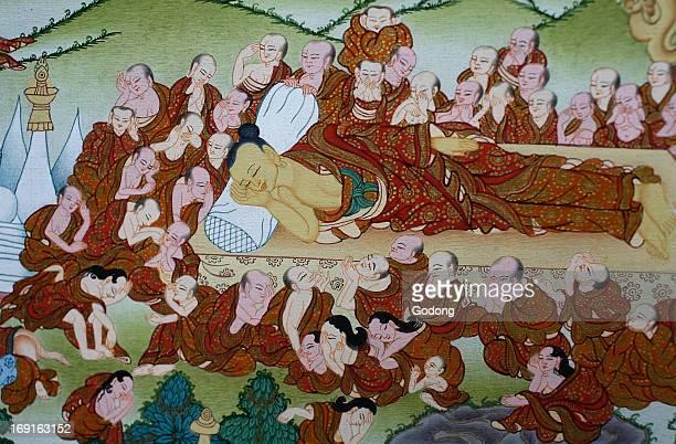 Buddha's death or Parinirvana Thangka