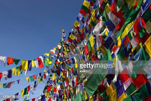 Buddhism, Prayer flags : Stock Photo