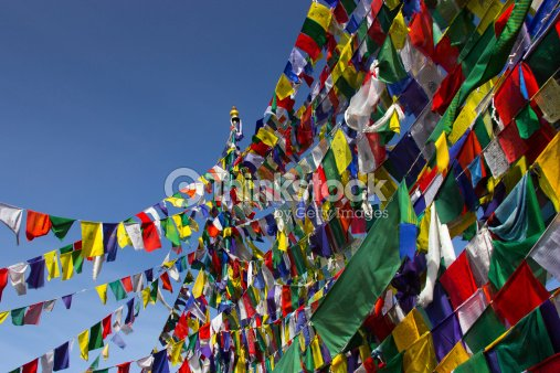 Buddhism, Prayer flags : Stock Photo