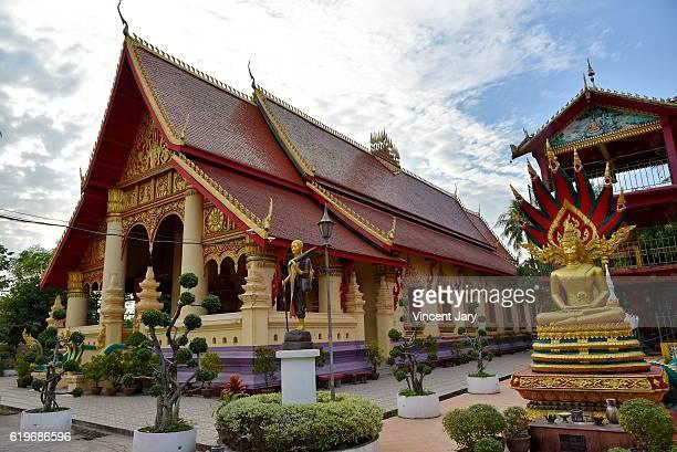 Buddhist Chanthaboury temple Vientiane Laos