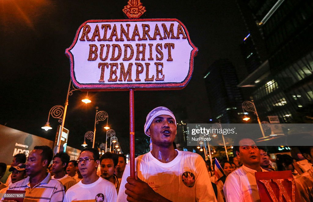Buddhist followers join the procession during the Vesak Day celebration in Kuala Lumpur on May 21 2016