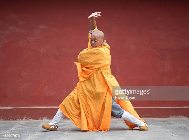 Buddhist Kung Fu Monk at Shaolin Temple China.