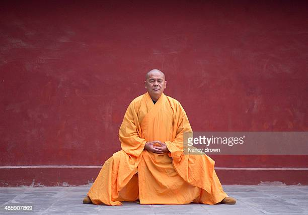 Buddhist Kung Fu Monk in Shaolin Temple China.
