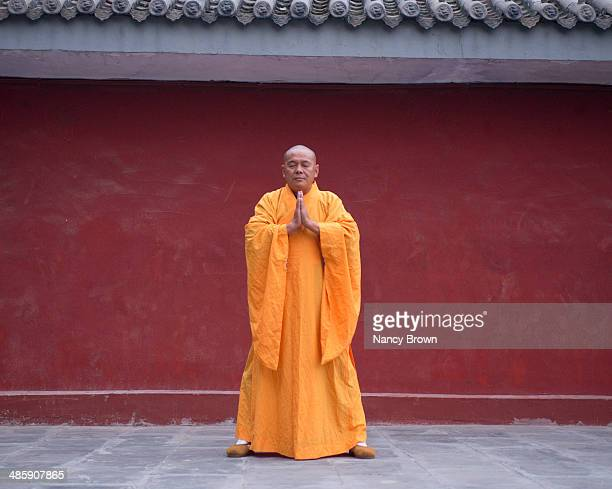 Buddhist Kung Fu Monk Shaolin Temple China.