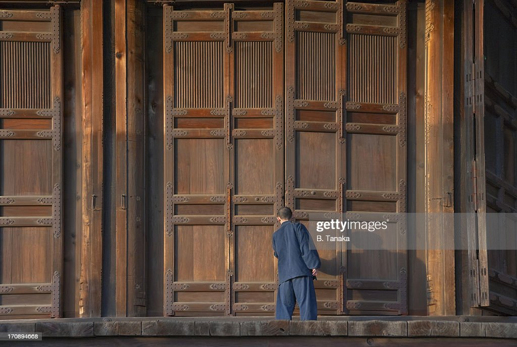 Buddhist Monk at Chion-in Temple in Kyoto, Japan : Stock Photo