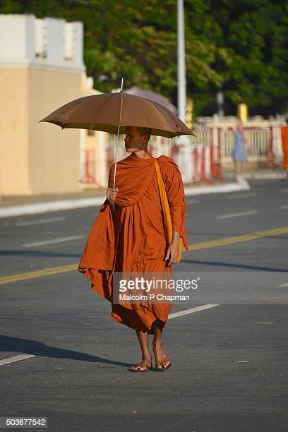 Buddhist Monk, outside Royal Palace, Phnom Penh, Cambodia
