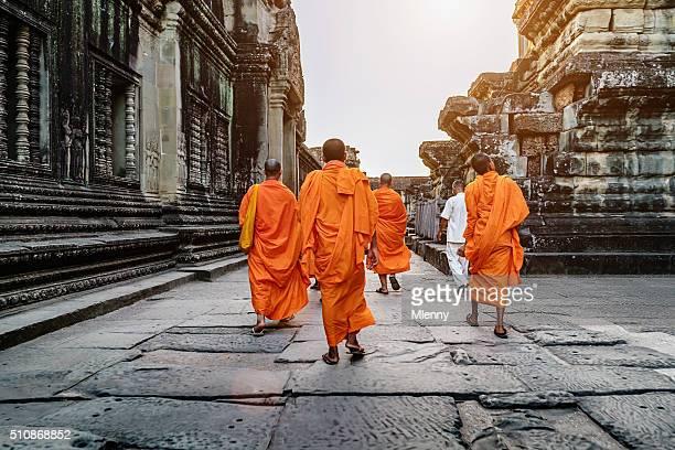 Buddhist Monks in Angkor Wat Cambodia