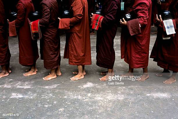 Buddhist monks in Mahagandayon monastery