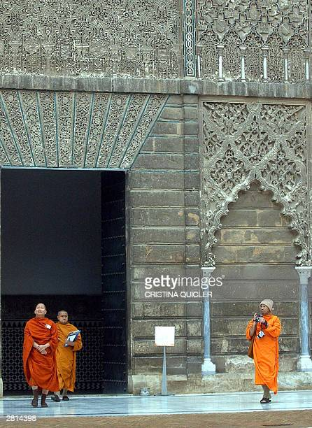 Buddhist monks visit the Reales Alcazares 16 Decemeber 2003 in Seville as the Elijah Interfaith Academy convenes a Meeting of Board of World...