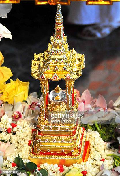 Buddhist Pagoda in Vincennes. Presentation of the Buddha's relics in Paris.