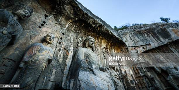 Buddhist sculptures in the main grotto of Longmen Caves in Luoyang, Henan, China