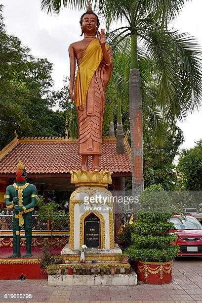 buddhist statue at Vat Simeuang temple Vientiane Laos