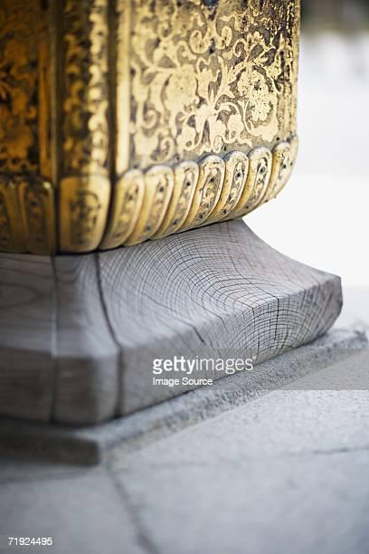 Buddhist temple pillar