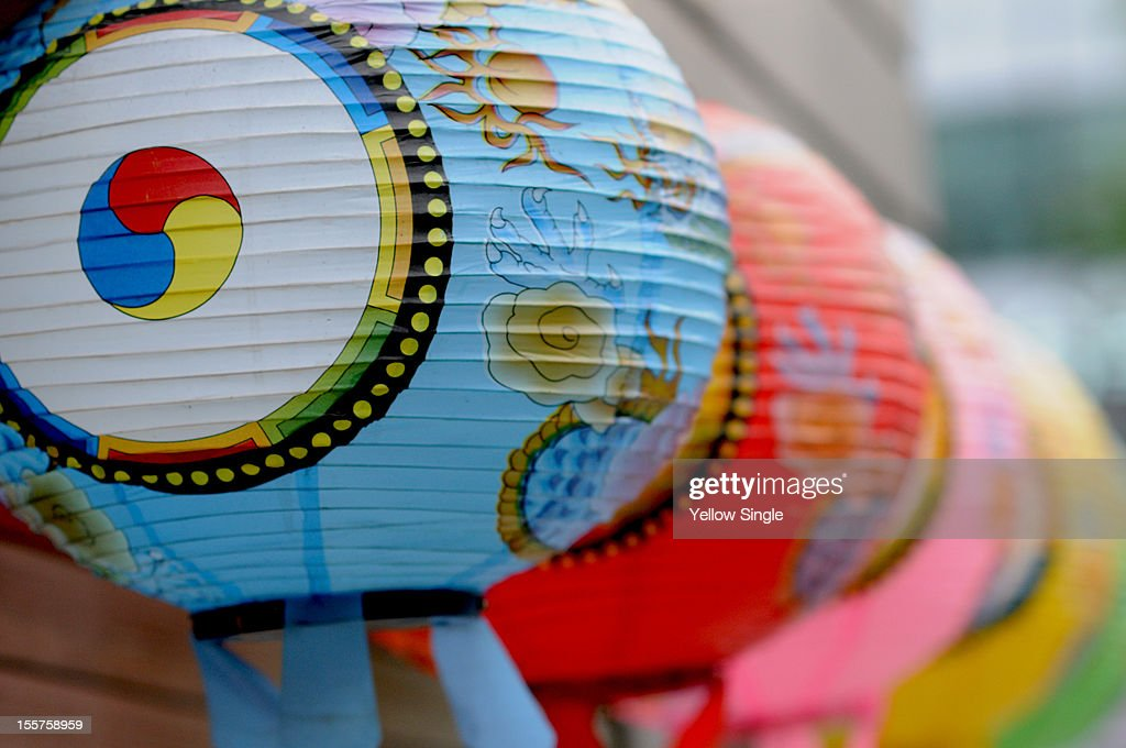 Buddhists lanterns : Stock Photo
