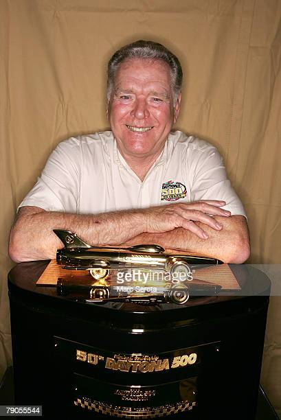 Buddy Baker Daytona 500 winner poses prior to practice for the NASCAR Nextel Cup Series Pepsi 400 at Daytona International Speedway on July 5 2007 in...