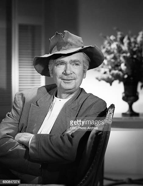 Buddy Ebsen portrays Jed Clampett in the CBS television comedy program 'The Beverly Hillbillies' Image dated January 18 1966 Hollywood CA