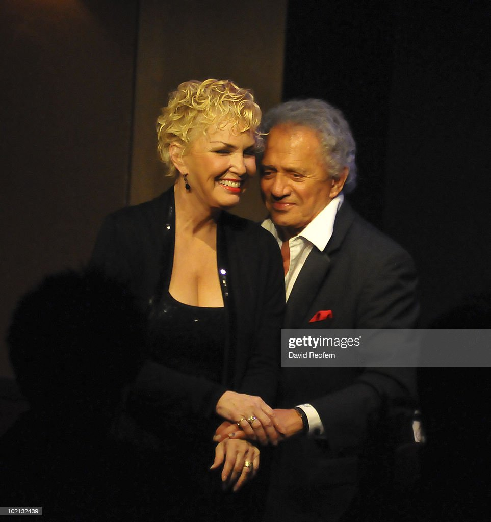 Buddy Greco and Lezlie Anders perform on stage at Ronnie Scott's Jazz Club on June 14, 2010 in London, England.