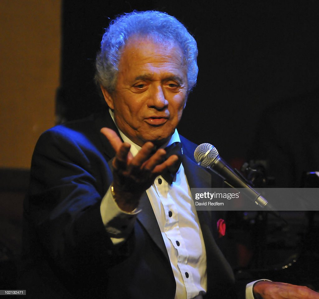 Buddy Greco performs on stage at Ronnie Scott's Jazz Club on June 14, 2010 in London, England.