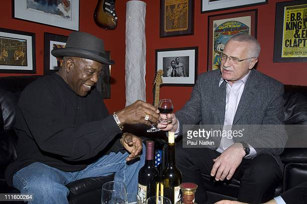 Buddy Guy and Vaclav Klaus President of the Czech Republic