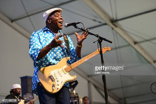 Buddy Guy performs on stage at the New Orleans Jazz and Heritage Festival on May 3 2015 in New Orleans United States