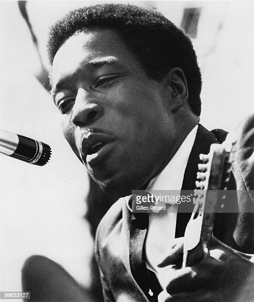 Buddy Guy performs on stage in 1968 in the United States