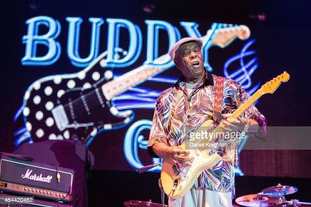 Buddy Guy performs on stage with Frampton's Guitar Circus at Harrah's Resort Southern California on August 30 2014 in Valley Center California