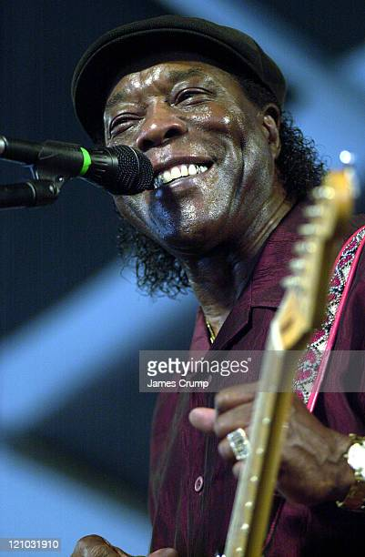 Buddy Guy performs on the final day of the New Orleans Jazzfest 2003