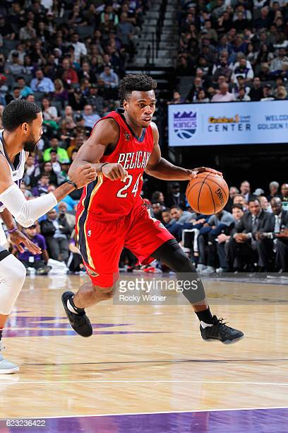 Buddy Hield of the New Orleans Pelicans drives against the Sacramento Kings on November 8 2016 at Golden 1 Center in Sacramento California NOTE TO...