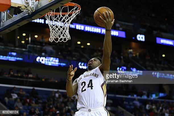 Buddy Hield of the New Orleans Pelicans shoots during the second half of a game against the Boston Celtics at the Smoothie King Center on November 14...