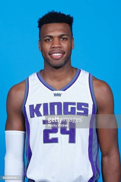 Buddy Hield of the Sacramento Kings poses for a head shot on February 24 2017 at the Golden 1 Center in Sacramento California NOTE TO USER User...