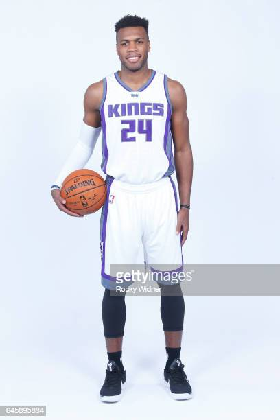 Buddy Hield of the Sacramento Kings poses for a photo on February 24 2017 at the Golden 1 Center in Sacramento California NOTE TO USER User expressly...